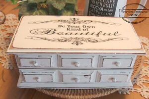 Upcycled Jewelry box Vintage Be your own kind of beautiful