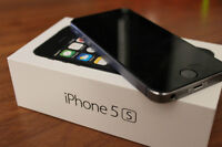 Brand New black iPhone 5s with black case