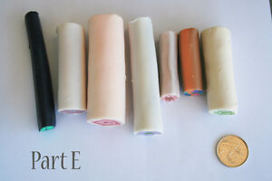 7 original unbaked polymer clay canes made by artist Kitchener / Waterloo Kitchener Area image 2
