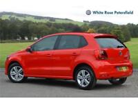 2017 Volkswagen Polo Match Edition 1.2 TSI 90PS 5-speed Manual 5 Door Petrol red