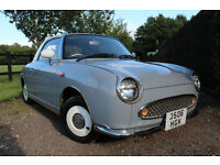 Nissan Figaro Convertible RARE GREY + LOW MILEAGE + AMAZING CONDITION LADY OWNED