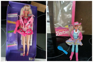 Vintage Paint n Dazzle Barbie & Cowgirl Barbie