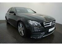 2018 BLACK MERCEDES E220D 2.0 AMG LINE DIESEL SALOON CAR FINANCE FR £370 PCM