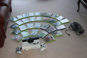 Xbox 360, kinect, 2 wireless controllers, 31 games