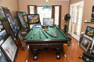 4X8  BRUNSWICK CONTENDER SLATE PROFESSIONAL POOL TABLE & LIGHTS