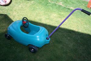 wagon, plastic car