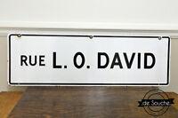 Enseigne Antique en Métal Rue L O David Montréal Road Sign