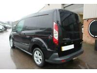 2014 BLACK FORD TRANSIT CONNECT 1.6 TDCI 95 200 L1 TREND CAR FINANCE FR £153 PCM