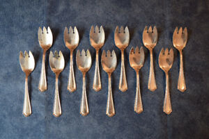 Antique Silver-Plated Ice Cream Forks