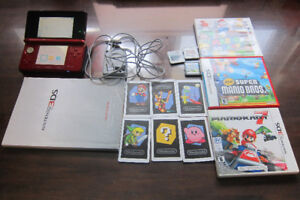 Red Nintendo 3DS + 3 games