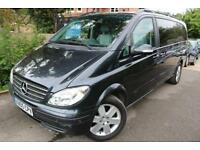 2005 Mercedes Viano 3.2 AMB X LONG Black Long MOT 6 Seater Finance Available