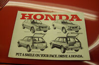Honda Civic Accord, Fiat 128 Original Sales Brochures $10. Each