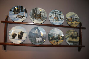 Complete Collector plate set - Portraits of the Wild