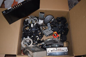 sound control, various wires and power supplies