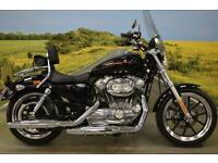Harley Davidson XL883 2014 ** 745 MILES, TOURING SCREEN, BACK REST **