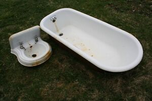 Antique cast iron tub and sink (PRICE REDUCED)