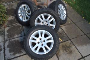 Mags HONDA 4X100 avec pneus d'hiver