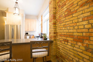 LOFT Suite with real exposed brick, furnished & available Apr 1