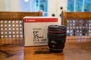 Canon 35mm f1.4 L Prime Lens