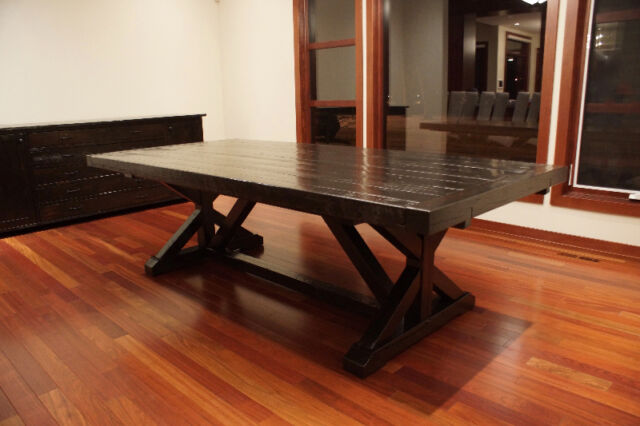 Reclaimed Solid Wood Trestle Dining Table By LIKEN  : 27 from www.kijiji.ca size 640 x 426 jpeg 44kB