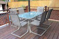 Ensemble patio 6 places