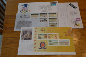 Stamps: 7 old FDC and covers