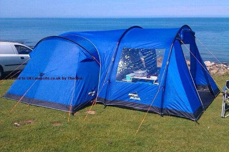 Vango Midas 400 4 Person Tent With Side Enclosed Canopy