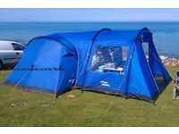 Vango Midas 400 4 person tent with side enclosed canopy/awning