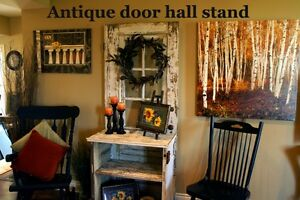 Old doors made into various furniture pieces