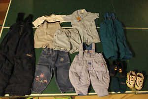 10 assorted clothing items for toddler