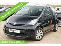 2013 13 TOYOTA AYGO 1.0 VVT-I ICE PHANTOM BLACK 3D 70 BHP CHEAP INSURANCE TAX