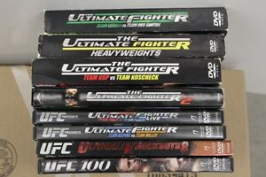 8    UFC ULTIMATE FIGHTER DVDs    ALL FOR $40.00