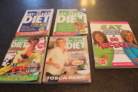 """4 """"Eat Clean Diet"""" Books By Tosca Reno & Eat Shrink and Be Merry"""