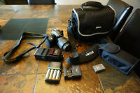 Nikon D5000 with speed light, extra battery etc.