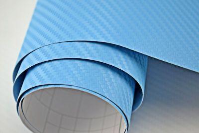 5,90€/m²  3D Carbon Folie hell blau blasenfrei 400 x 152cm Klebefolie Carbon Opt
