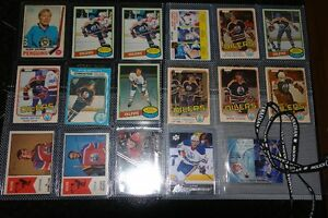 Edmonton Oiler Cards forsale or trade on a 20 hp boat motor