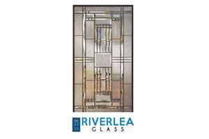 """GLASS INSERT FOR DOOR - RIVERLEA GLASS """"KINGSTON"""""""