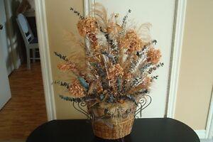 Arrangement fleurs séchées avec vase (1)