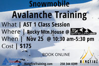 Snowmobile Avalanche Training - Rocky Mountain House
