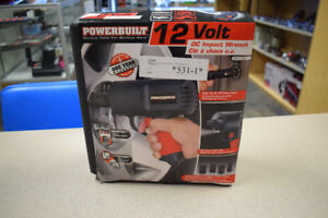 Powerbuild 12 Volt DC Impact Wrench w/ 4 Impact Sockets
