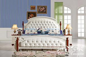 Set de chambre:lit,armoire, coiffeuse,tables de nuit, commode
