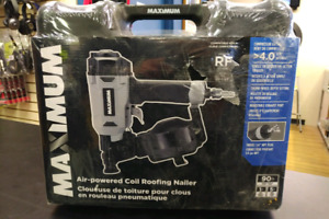 Maximum Air-Powered Coil Roofing Nailer-NEW