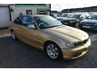 BMW 320 2.0TD 2004MY Cd 2 DOOR COUPE+GLORIOUS GOLD