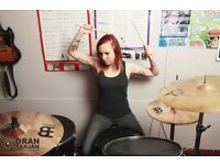 Professional & engaging drum lessons with a qualified female tutor - all ages, styles and abilities.