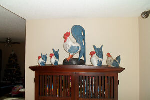 French Country Style Roosters Kitchener / Waterloo Kitchener Area image 1