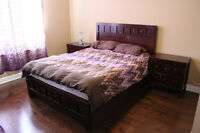 5 Piece Queen Size Bedroom Set WITH Mattress