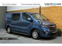 2016 Vauxhall Vivaro 1.6 CDTi 2900 BiTurbo ecoFLEX Sportive Crew Van L1 H1 *NO V