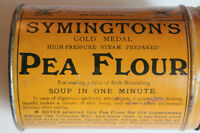Antique Symington's Pea Flour Tin Can Great Graphics 1890's VGC