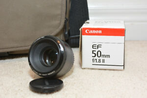 Canon 50mm prime lens f/1.8 II barely used