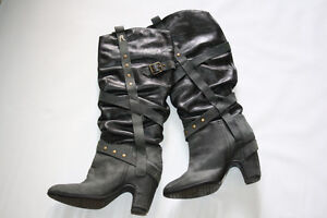Tall motorcycle boots by Replay